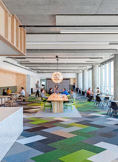 Colorful office flooring  | flooring | | design |  | moderndesign | http://www.ironageoffice.com/