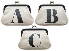 Alphabet purses ... My Bags, Purses And Bags, Cute Purses, Black Trim, Screen Printing, Alphabet, Coin Purse, Accessories, Google Search