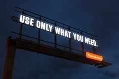 Less is More on Water Conservation Billboard : TreeHugger