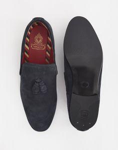 Base London Larkin Tassle Loafer Blue | Shop men's shoes and clothing at The Idle Man Men's Shoes, Dress Shoes, Men's Footwear, Formal Shoes, Loafers Men, Oxford Shoes, Gucci, Base, Man Shop
