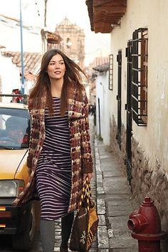 Tiered Stripes Dress - Anthropologie