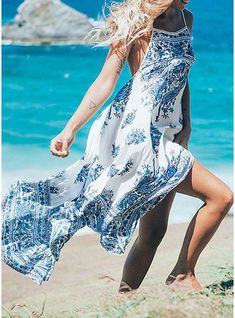 Cheap dress vestidos, Buy Quality beach sundresses directly from China long maxi Suppliers: 2017 Summer Casual Holiday Beach Sundress Women Sexy Flower Print Boho Spaghetti Strap Backless Long Maxi Dress Vestidos Long Floral Maxi Dress, Boho Summer Dresses, Beach Dresses, Boho Dress, Casual Dresses, Dresses Dresses, Summer Outfits, Floral Sundress, Chiffon Dresses