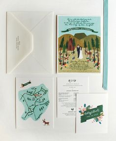 Anne of Rifle Paper Products' invitations and ephemera for her own wedding