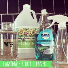 Save $$$ and make your own {home-made} LAMINATE FLOOR CLEANER using only 3 ingredients!!