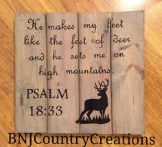 This hand painted sign is such a beauty and perfect for any home country decor! I am passionate about hunting and scripture so if you are