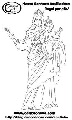 Resultado de imagem para riscos de santos catolicos para pintar Saints Days, Blessed Mother, Mother Mary, Madonna, Christianity, Coloring Pages, Diy And Crafts, Sacramento, Plastic Canvas