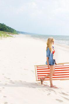 denim on denim beach wear
