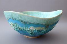 jan lewin cadogan Pottery Bowls, Ceramic Bowls, Ceramic Art, Stoneware, Ceramic Texture, Pattern Design, Polymer Clay, Porcelain, Ocean