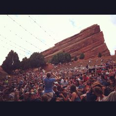 Beautiful shot from my front row seat of Red Rocks :) Mumford & Sons !