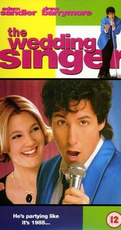 Directed by Frank Coraci.  With Adam Sandler, Drew Barrymore, Christine Taylor, Allen Covert. Robbie, the singer and Julia, the waitress are both engaged to be married but to the wrong people. Fortune intervenes to help them discover each other.  Wedding Singer
