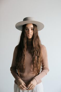 Gigi pip hats for women- dahlia light gray - women's boater hat-felt Short Brim Hat, Flat Brim Hat, Boater Hat, Wide-brim Hat, Women's Hats, Fashion Night, Fashion Hats, Fashion Top, Fashion Edgy