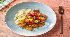 Sweet & Sour Pork with Bulgur Recipe Bulgur Recipes, Pork Recipes, Sweet Sour Pork Recipe, Healthy Salads, Healthy Recipes, Healthy Dinners, Healthy Food, Hello Fresh Recipes, Low Calorie Recipes