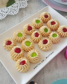 Image may contain: food Mini Cupcakes, Cookie Decorating, Food And Drink, Cookies, Desserts, Recipes, Image, Shortbread Cookies, Drop Cookie Recipes