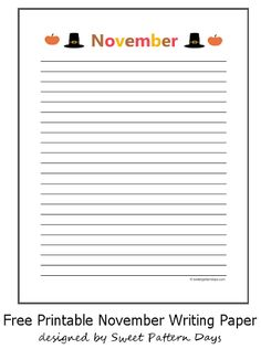 Halloween Writing Paper Featuring Cute Pumpkins  Diy Planner