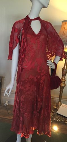 Dress worn by The Hon Phyrne Fisher (Essie Davis) in the 1920s TV series Miss Fisher's Murder Mysteries set in Melbourne. It's based on the wonderful books by Kerry Greenwood.