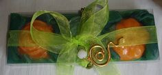 Green-Orange Elegant Gift Set for Women with Luxury Scented Soaps & Handmade Jewelry Necklace: Ideal for Anniversary Feast Birthday Party (20.00 EUR) by JoannasScentedSoaps