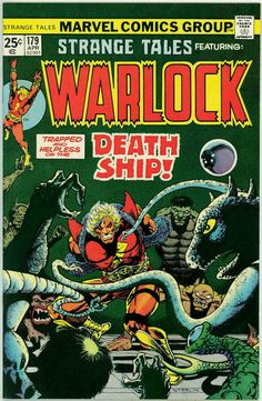 For sale strange tales 179 marvel comics warlock first pip troll jim starlin artwork comic book emorys memories. Comics Uk, Marvel Comics Superheroes, Comics For Sale, Old Comics, Marvel Comic Books, Vintage Comics, Marvel Characters, Comic Books Art, Comic Art