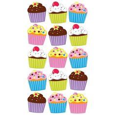 Sticko Stickers-Vellum & Glitter Bright Cupcakes - vellum & glitter bright cupcakes