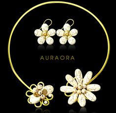 This is white flower set from auraora, the power of aura on your body.