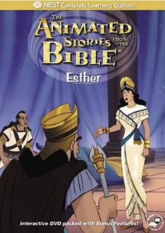 Animated Stories from the Bible: Esther - Christian Movie/Film on DVD. http://www.christianfilmdatabase.com/review/animated-stories-from-the-bible-old-testament-esther-nest/
