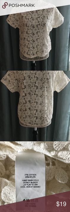 fd4d4fd7d8 Joe Fresh Lace Shirt NWOT NWOT. Joe Fresh beautiful beige see through lace  pullover shirt