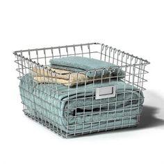Chrome Storage Basket - Medium | The Organizing Store #wirebasket #retailstoredisplay