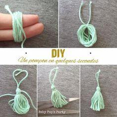 DIY - Un pompon en quelques secondes