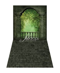 Castle Window Backdrop for birthday party and princess themed dress up parties - Fab Vinyl (FV7501) Love this so much but nor sure abut the durability of material and concerned about wrinkling