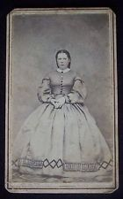 Civil War era 1860's CDV photograph & tax stamp Prattsburgh New York woman