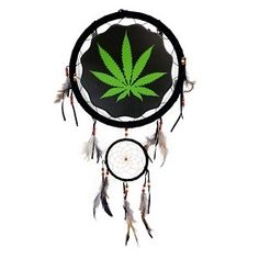 """13"""" Leaf Dream Catcher in tomscottagestore's Garage Sale in Portland , OR for $16. Leaf design dream catcher. Measures approximately 13"""" in diameter. Green leaf on black background image in center measures 8 1/2"""" (Print on one side only). Small ring measures approximately 5"""". Item Weight: 6 oz"""