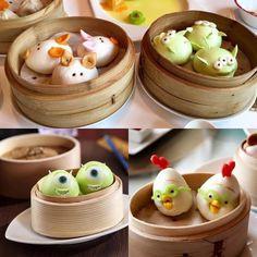 Little cute dumplings ❤️❤️❤️. Can't eat when watching them Vietnamese Pho, Vietnamese Recipes, Fun Food, Good Food, Yummy Food, Restaurant, School Lunch, Dumplings, Nom Nom