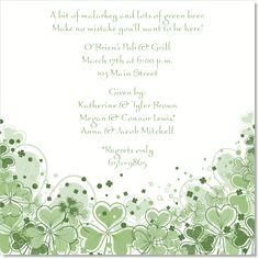 This formal Irish themed invite is perfect for an Irish wedding or a formal Celtic event!  - by IB Designs