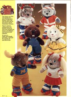 Get Along Gang toys from a 1984 catalog. One of my favourite childhood cartoons. I had Montgomery. 1980s Childhood, My Childhood Memories, Sweet Memories, 1980s Toys, Retro Toys, Vintage Toys, 80s Girl Toys, Girls Toys, Antique Toys