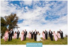 Beautiful Blue Skies Wedding Party Portrait - Westlake Wedding Photographer, Ventura County Wedding Photography