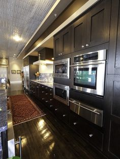 Black Stained Oak Cabinets Design, Pictures, Remodel, Decor and Ideas