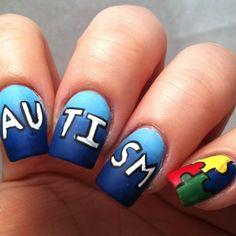 polishedclaws_ autism awareness  #nail #nails #nailart