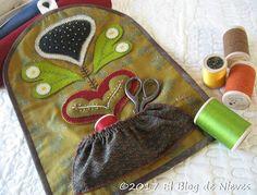 El Blog de Nieves. Labores y Punto de cruz: Costurero Costurero Wool Applique Folk Art Rebekah Smith.