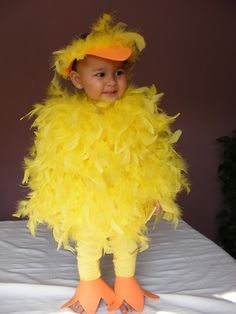 Yellow Feather Baby Chick Halloween costume