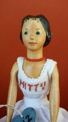 RARE Lotz Early Basswood Hitty Doll B12 Dated 5 98 | eBay