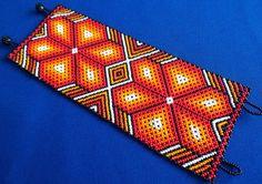 Huichol Beaded Peyote Bracelet by Aramara on Etsy