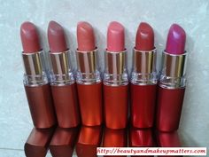 Swatch Fest – 6 Maybelline Color Sensational Moisture Extreme Lipsticks