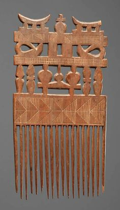 Africa   Comb (duafe) from the Akan people of Ghana   Wood   ca. 2nd half 20th century
