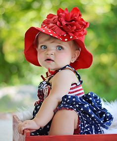 Another great find on #zulily! Red Flower & Polka Dot Flower Sunhat by Jamie Rae Hats #zulilyfinds