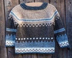 Knitting Patterns Funny Brown and gray colors Baby Sweater Knitting Pattern, Fair Isle Knitting Patterns, Knit Baby Sweaters, Girls Sweaters, Knit Patterns, Crochet For Boys, Knitting For Kids, Toddler Sweater, Pulls