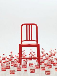 Oh how I want 5 of these....but still can't decide on colour!  111 Navy Chair, Designed by Emeco.  Made from 111 #recycled plastic Coca-Cola bottles.