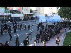 RIO: PM AGRIDE MULHER DURANTE PROTESTO - YouTube