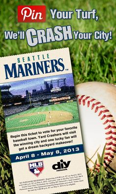 Crash Seattle! Repin this #SeattleMariners ticket. The city with the most repins gets crashed!