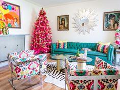 Jen Perkins' Colorful Christmas Home Tour Part 2