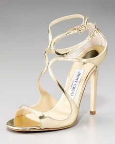 Lance Wavy Strap Sandal by Jimmy Choo  ...my gold jimmy chooos omg  i jus love these shoes!!! classic!!!!