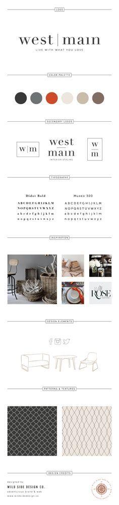 Brand Launch :: Brand Style Board :: Interior Stylist Branding :: West Main Brand Design :: #branding http://www.wildsidedesign.co